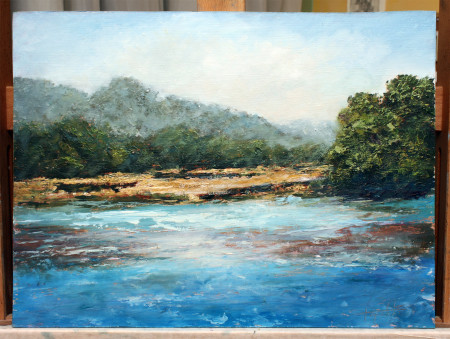 Fine Art - Pursuing Streams - Original Oil Painting on HDF by artist Darko Topalski