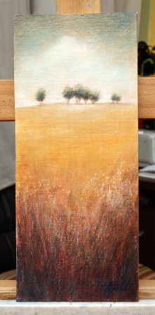 Fine Art - Distant Trees 1 - Original Oil Painting on HDF Canvas board by artist Darko Topalski