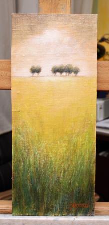 Fine Art - Distant Trees 2 - Original Oil Painting on HDF Canvas board by artist Darko Topalski