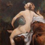 Jupiter and Io – Oil Painting after Correggio