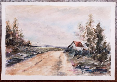 Fine Art - Country Road - Original Watercolour Painting on paper by artist Darko Topalski