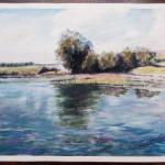 Lake Scene  – Watercolor Painting