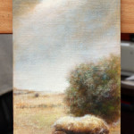 Haystack Wagon – Oil Painting