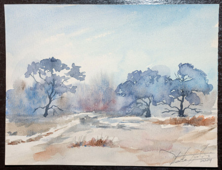 Fine Art - Once upon a time - Original Watercolour Painting on paper by artist Darko Topalski
