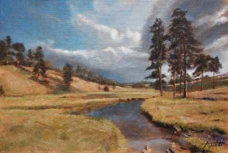 Fine Art - Mountain Creek - Original Oil Painting on Canvas by artist Darko Topalski