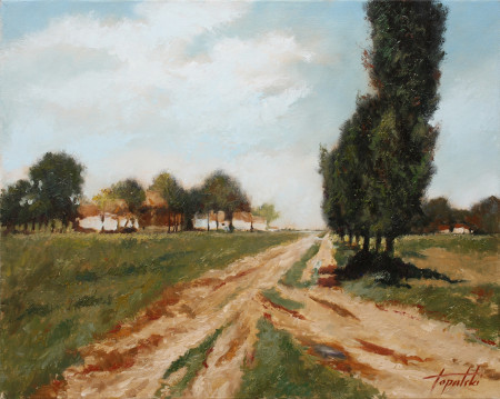 Country Road -Original Oil Painting on Canvas by artist Darko Topalski
