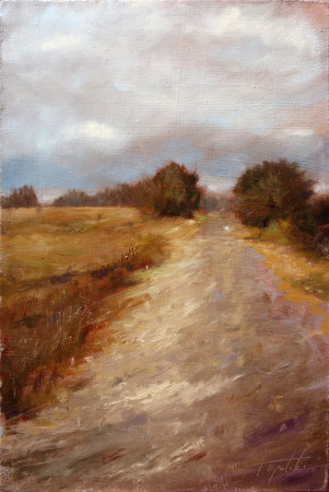 Fine Art - Country Road - Original Oil Painting by artist Darko Topalski