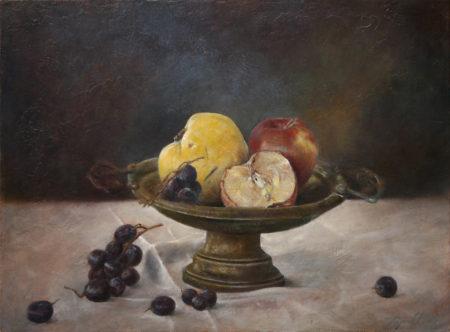 Fine Art - Fruits still life - Oil Original Painting artwork on Canvas by artist Darko Topalski gallery arts