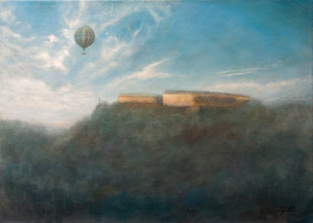 Fine Art - Misty Fortress - Original Oil Painting on Canvas by artist Darko Topalski