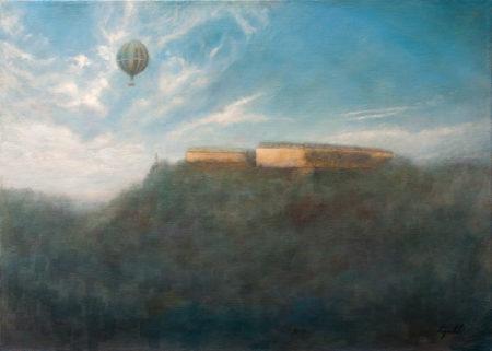 Fine Art - Misty Fortress - Original Oil Painting on Canvas by artist Darko Topalski