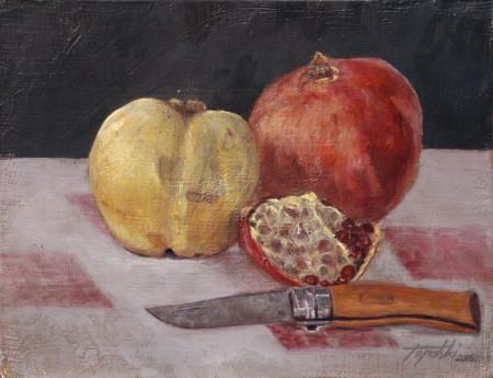 Fine Art - Mr Green's Opinel Carbon No7 - Original Oil Painting on Canvas by artist Darko Topalski