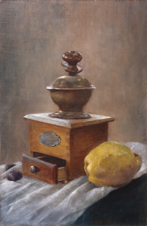 Fine Art - Quince and Pepper - Original Oil Painting on Canvas by artist Darko Topalski