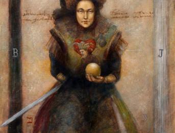 High Priestess – Tarot NO2 – Oil Painting