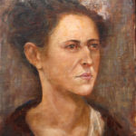 Lady with a hat – sitting portrait – Oil Painting