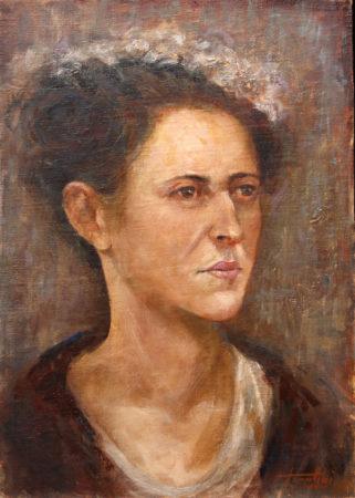 Fine Art - Lady with a hat - Oil Original Painting artwork on Canvas by artist Darko Topalski gallery arts