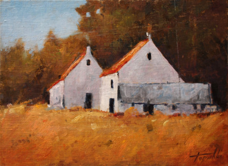 Fine Art - Old Farm - Original Oil Painting by artist Darko Topalski