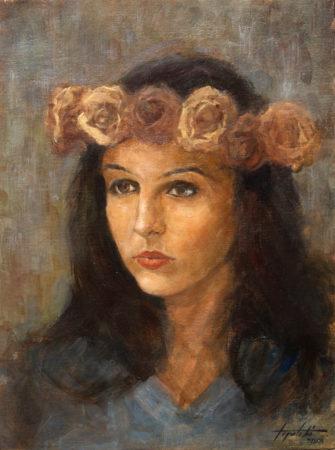 Fine Art - Ramonna - Oil Original Painting artwork on Canvas by artist Darko Topalski gallery arts