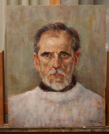Fine Art - Georg-Ain't no saint - Original Oil Painting by artist Darko Topalski