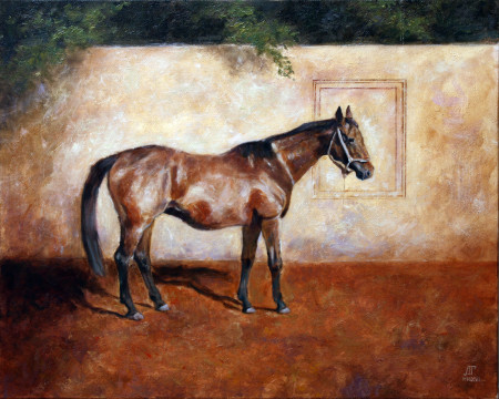 Fine Art -Inscription of a Horse - Original Oil Painting on Canvas by artist Darko Topalski