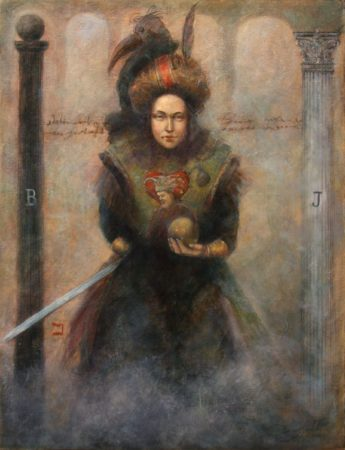Fine Art - High Priestess - Tarot NO2 - Original Oil Painting on Canvas by artist Darko Topalski