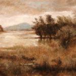 Distant Mountains – Landscape oil painting