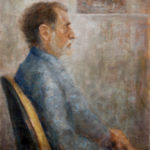 Georg – sitting portrait with hands – Oil Painting