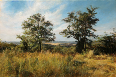 Fine Art - In the Country - Original Landscape Oil Painting on Canvas by artist Darko Topalski