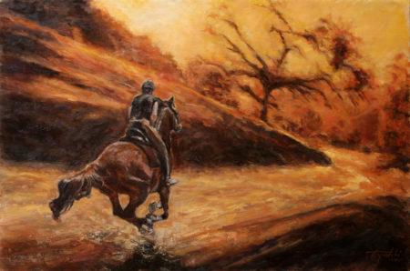 Fine Art - Rider - Original Equine Oil Painting on Canvas by artist Darko Topalski