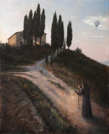 Fine Art -The Light of a New Dawn - Original Oil Painting on Canvas by artist Darko Topalski