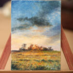 Sunny landscape – ACEO Oil Painting