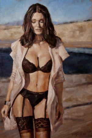 Fine Art - Provocateur - Original Figurative Oil Painting on Canvas by artist Darko Topalski