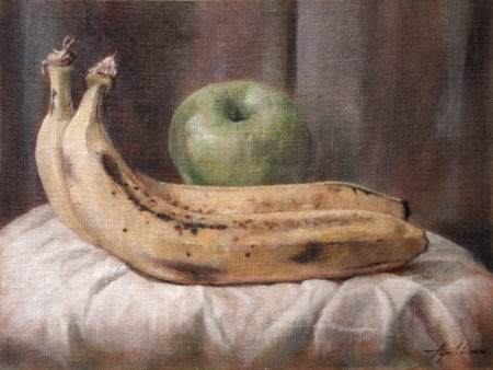 Fine Art - Bananas - Original Oil Painting on Canvas by artist Darko Topalski