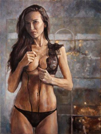 Fine Art - L'Agent - Original Oil Painting on Canvas by artist Darko Topalski
