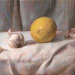 Healthy Recipe – Lemon and Garlic – Oil Painting