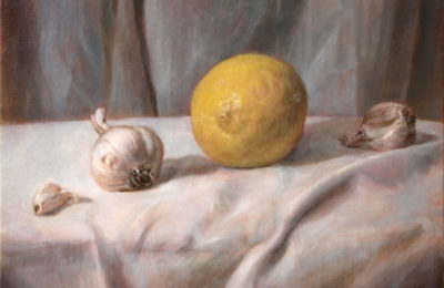 Healthy Recipe – Lemon and Garlic – Oil Painting