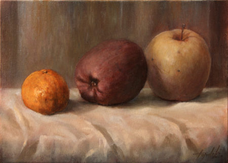Fine Art - Les Pommes - Original Oil Painting on Canvas by artist Darko Topalski