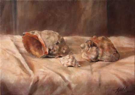 Fine Art - Sea Snails - Original Oil Painting on Canvas by artist Darko Topalski
