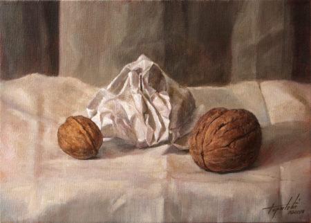 Fine Art - Walnuts - Original Oil Painting on Canvas by artist Darko Topalski