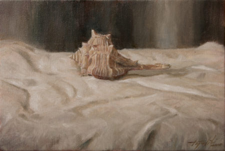 Sea Snail - Bolinus Brandaris - Fine Art - Original Oil Painting on Canvas by artist Darko Topalski