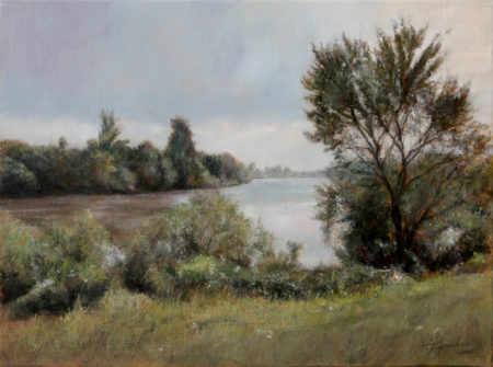 Fine Art - By the River - Original Oil Painting on Canvas by artist Darko Topalski