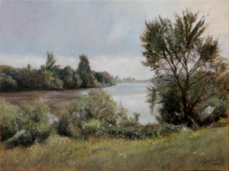 Fine Art - By the River - Original Oil Painting on Canvas by artist Darko Topalski