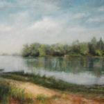 Down the River – Landscape Oil painting