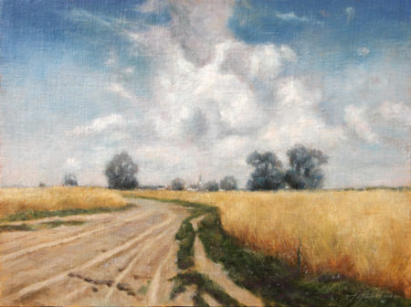 Fine Art - In the Country - Original Oil Painting on Canvas by artist Darko Topalski