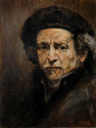 Fine Art - Rembrandt after Rembrandt - Original Oil Painting artwork on Canvas by artist Darko Topalski
