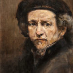 Rembrandt after Rembrandt – Figurative Portrait Oil painting