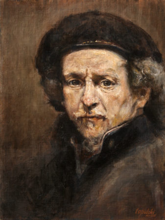 Fine Art - Rembrandt after Rembrandt - Original Oil Painting on Canvas by artist Darko Topalski