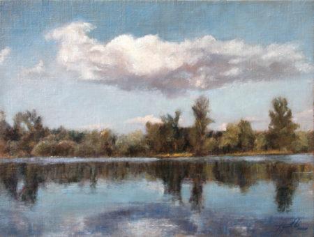 Fine Art - The River - Original Oil Painting on Canvas by artist Darko Topalski