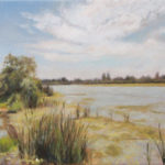 By the Pond – Landscape Oil painting
