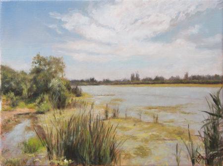 Fine Art - By the Pond - Original Oil Painting on Canvas by artist Darko Topalski