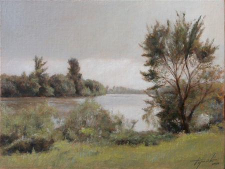 Fine Art -By the River 2 - Original Oil Painting on Canvas by artist Darko Topalski